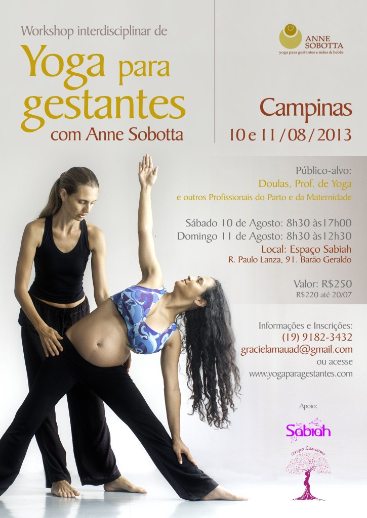 Workshop de Yoga para Gestantes, Anne Sobotta, Campinas