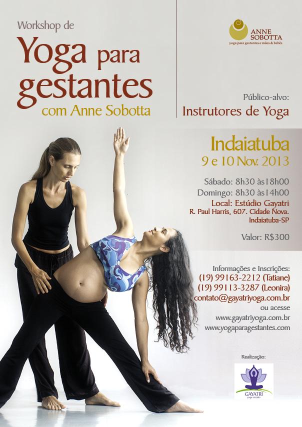 Workshop de Yoga para gestantes em Indaiatuba, com Anne Sobotta