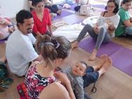 Yoga com bebês, Anne Sobotta, workshop Rio de Janeiro 2015