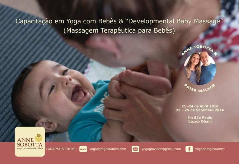 Capacitação em yoga com bebês e developmental baby massage Anne Sobotta Petr Walker Brazil 2016