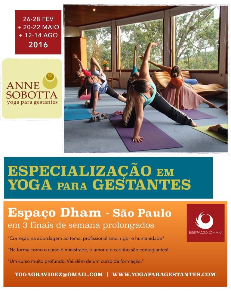 Especialização Yoga para Gestantes, Anne Sobotta, Prenatal yoga teacher training, yoga para grávidas, formação