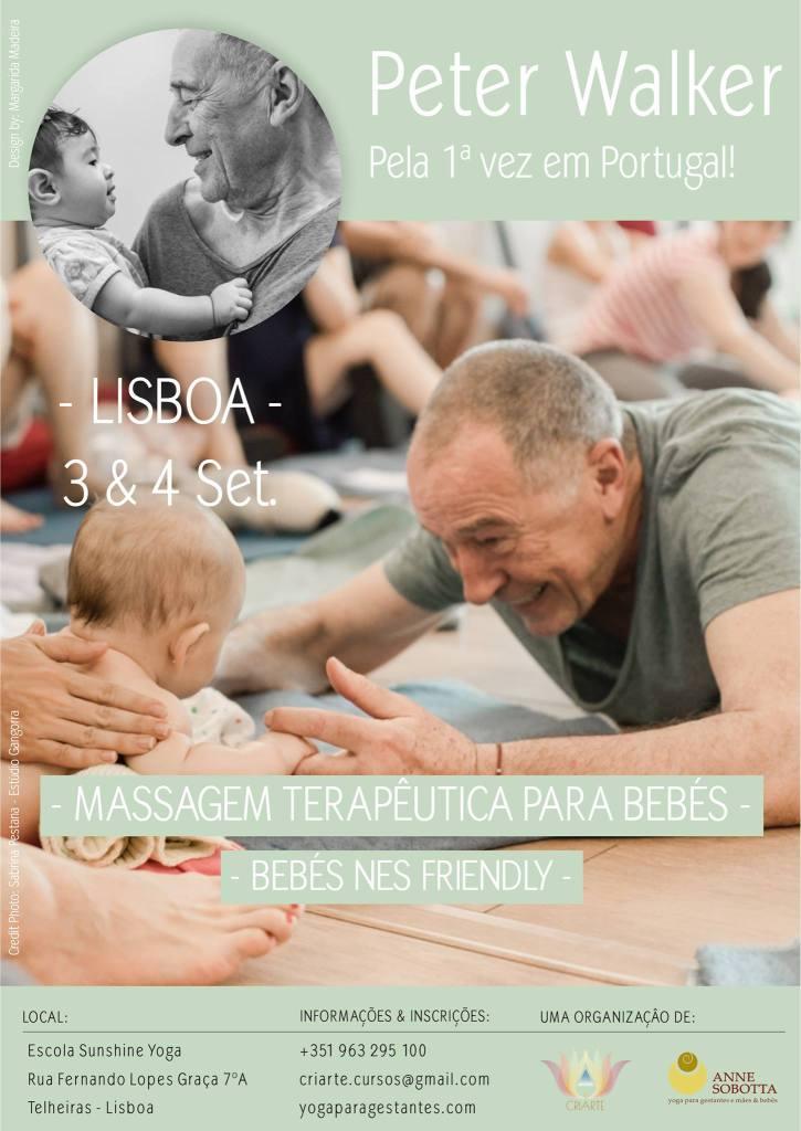 Curso Developmental Baby Massage Massagem em Bebês Peter Walker e Anne Sobotta, Lisboa Portugal 2016