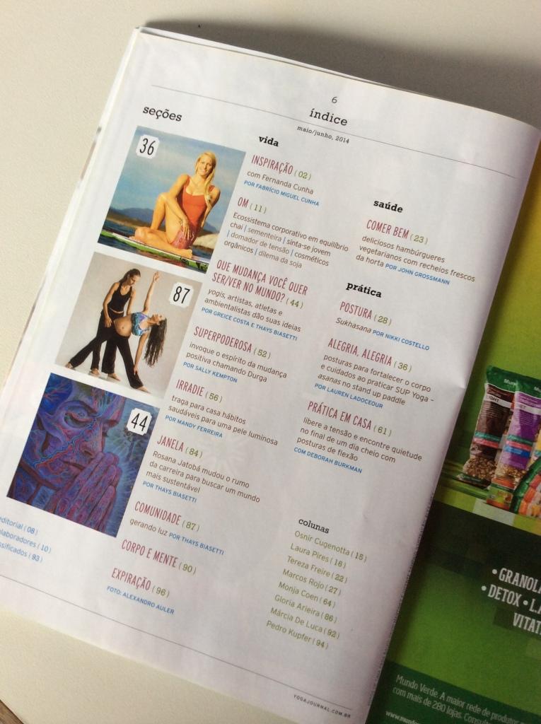 Artigo yoga prenatal no Yoga Journal 2014, Anne Sobotta