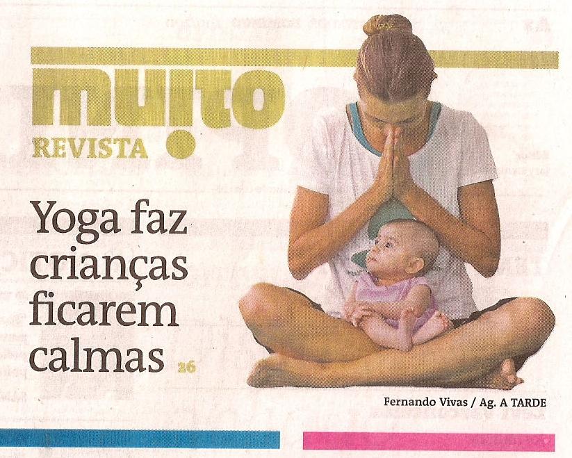 artigo yoga bebês jornal A Tarde, Anne Sobotta