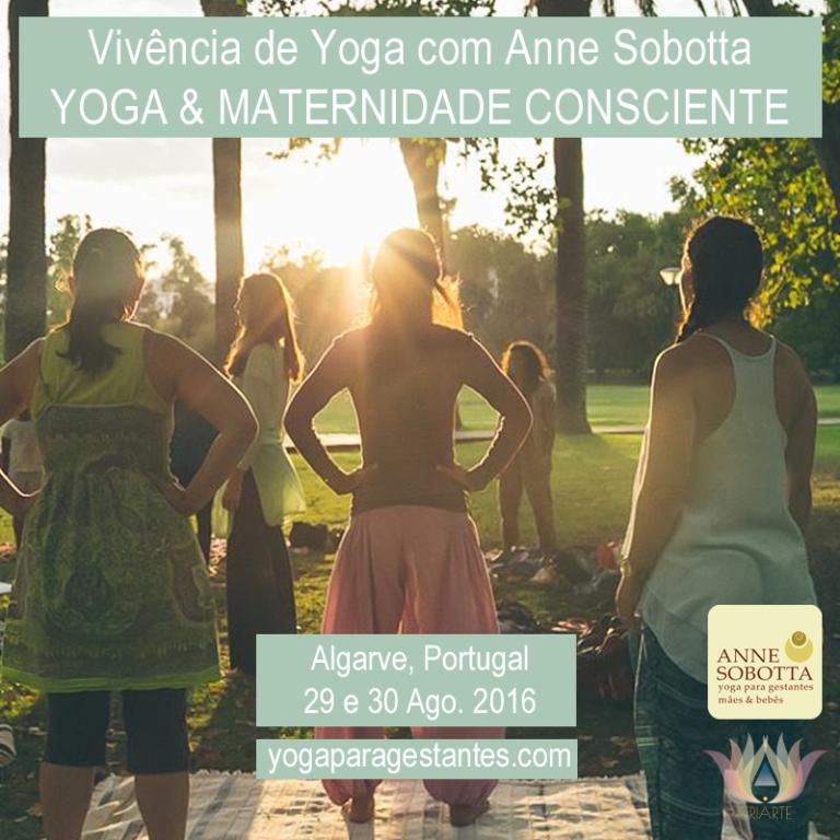 Vivência Yoga e Maternidade Consciente Anne Sobotta Quinta da Calma Portugal 2016