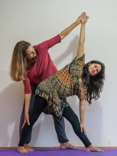 Yoga prenatal, trikonasana, Anne Sobotta