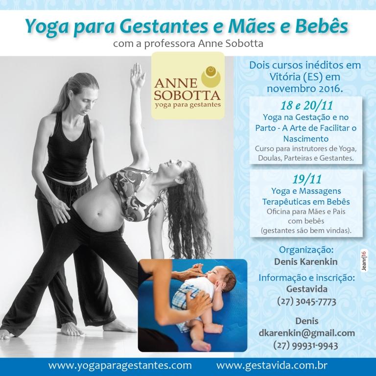 Workshop yoga para gestantes e oficina yoga com bebês e massagem, Anne Sobotta, Vitória, Espírito Santo, novembro de 2016