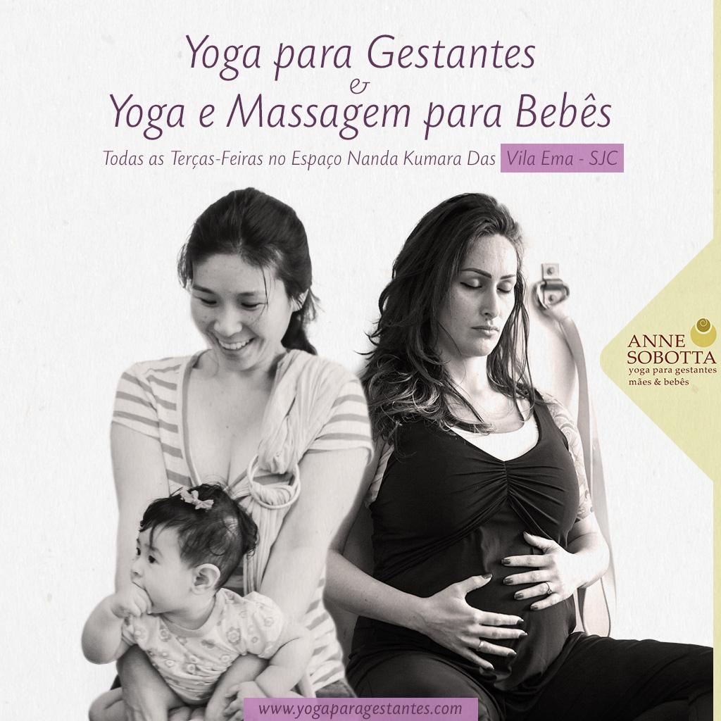 Yoga Gestantes e Mães e bebês em São José dos Campos com Anne Sobotta