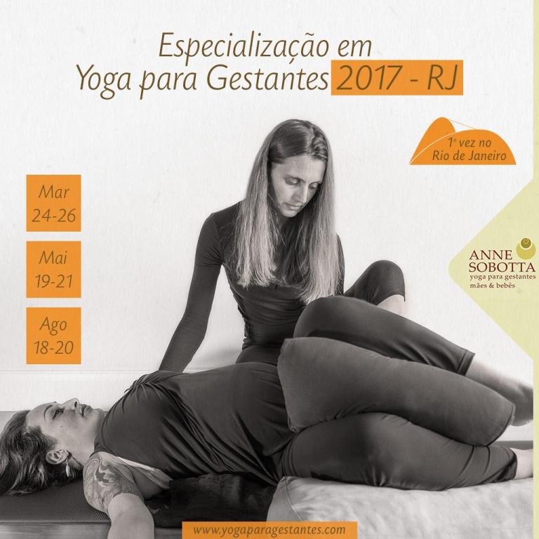curso formação especialização yoga para gestantes com Anne Sobotta em São Paulo e Rio de Janeiro Brasil 2017