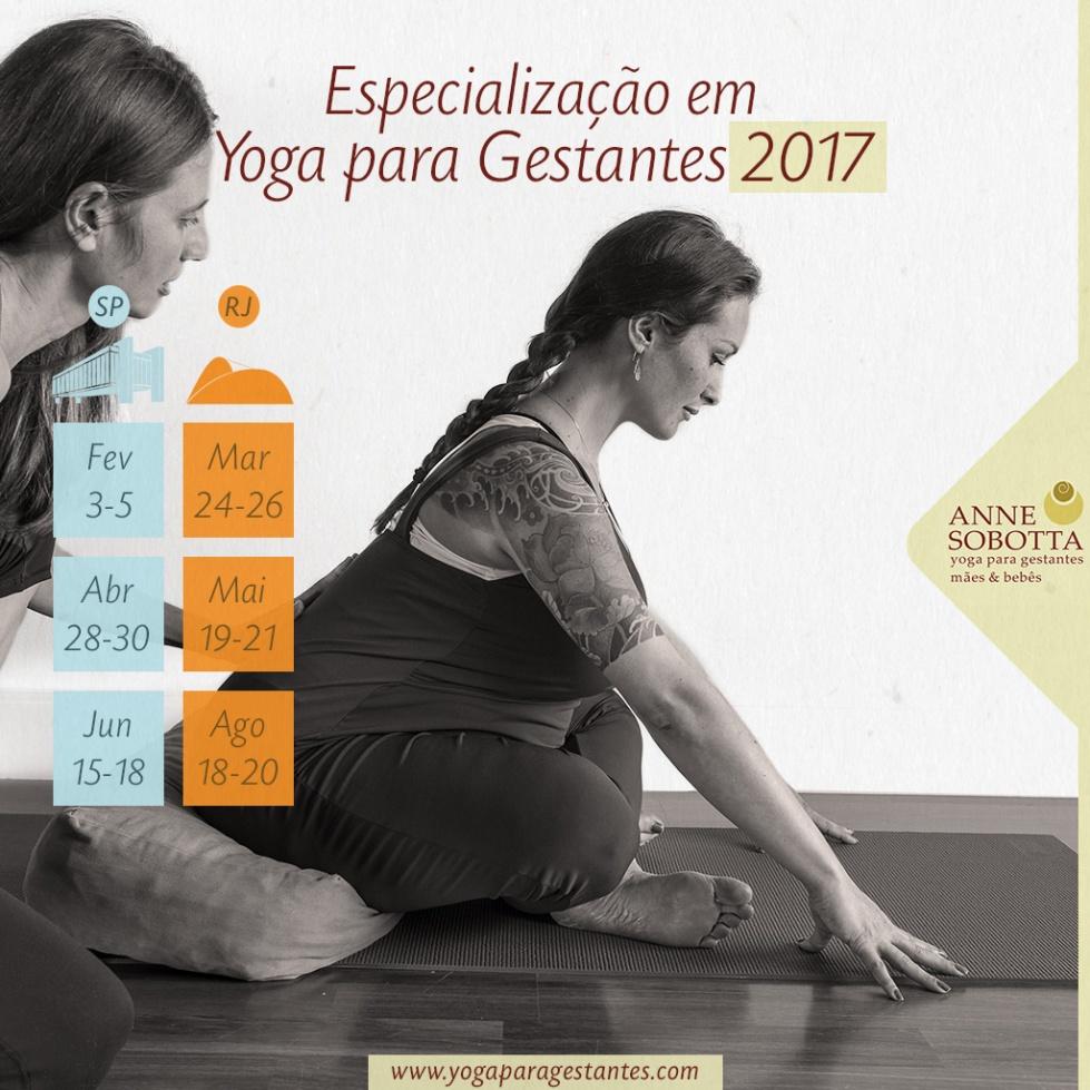 curso formação especialização yoga para gestantes com Anne Sobotta em São Paulo e Rio de Janeiro e São Paulo Brasil 2017