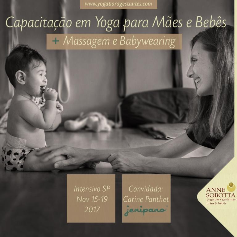 capacitação em yoga para mães e bebês com massagem e babywearing, com Anne Sobotta, Yoga para Gestantes e Maes e Bebês, São Paulo Brasil