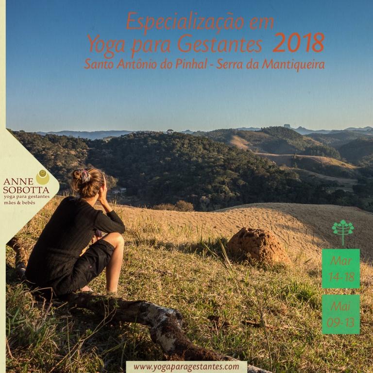 Especialização em yoga para gestantes com Anne Sobotta, retiro na Serra da Mantiqueira