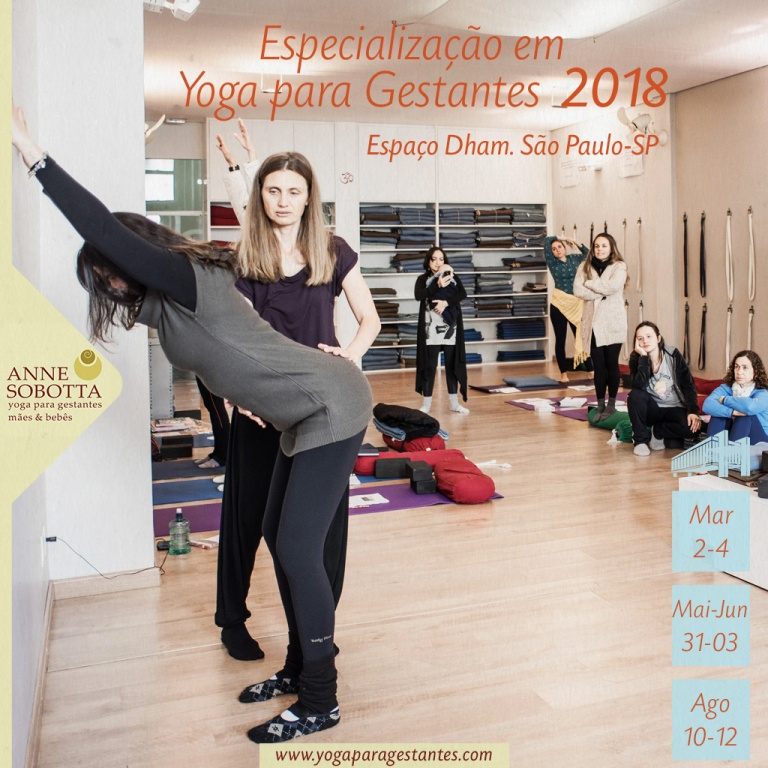 Especialização em Yoga para gestantes com Anne Sobotta, Espaço Dham, São Paulo 2018