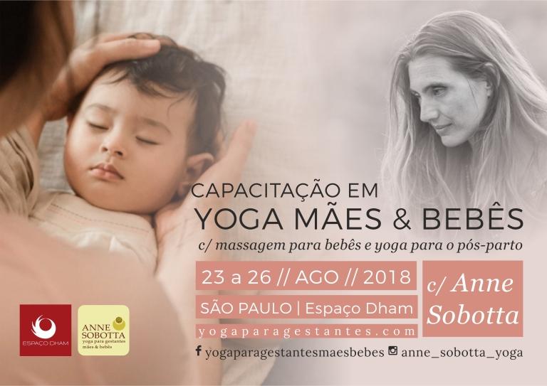 Yoga para mães e bebês com Anne Sobotta - babyoga e yoga posparto