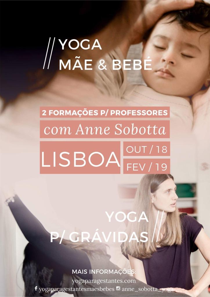 Cursos Yoga gestantes maes e bebés - Yoga prenatal - Yoga pos-parto - Baby yoga - postpartum yoga - Anne Sobotta - Lisboa Portugal 2018