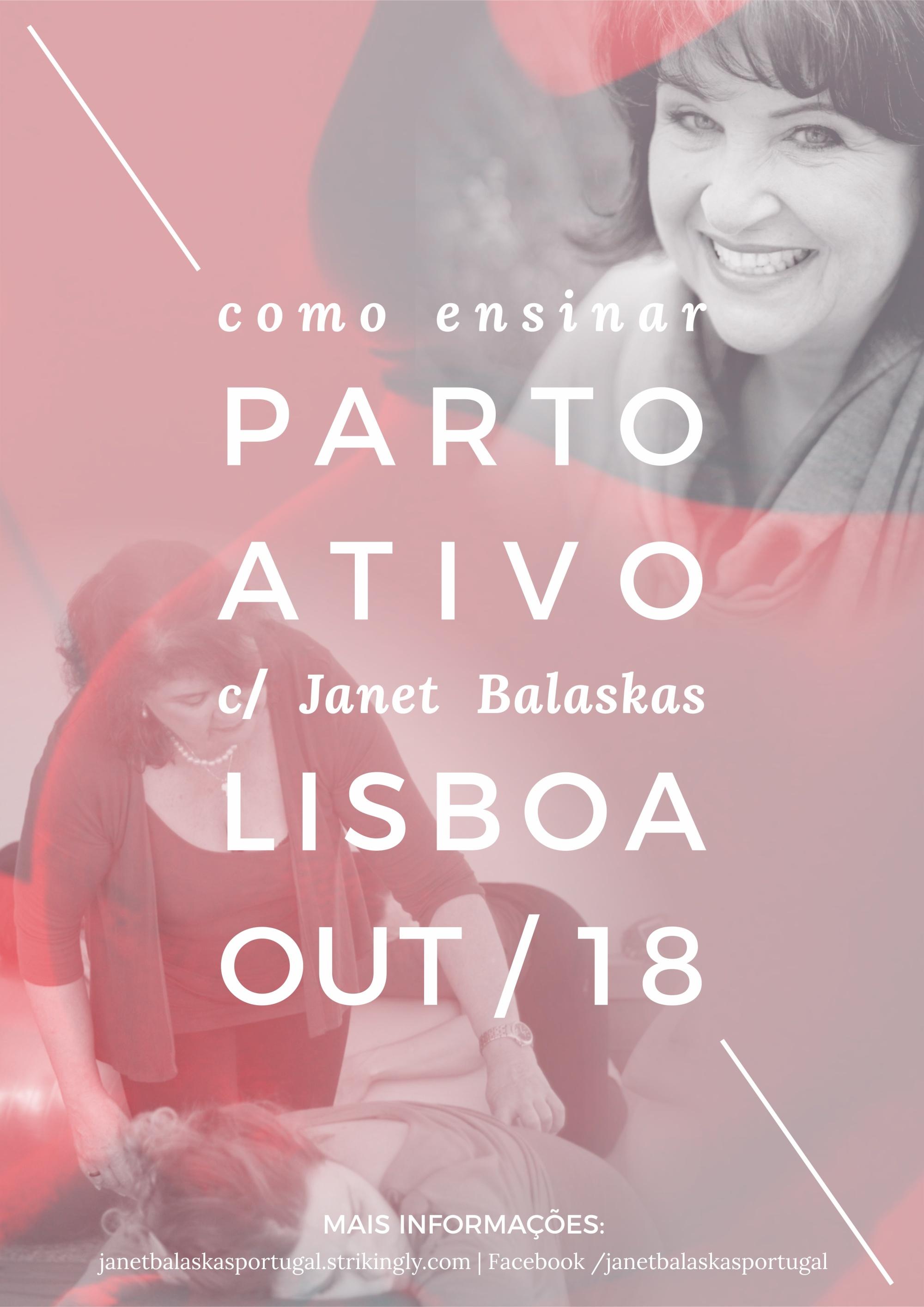 Janet Balaskas Active Birth Parto Ativo Lisboa 2018