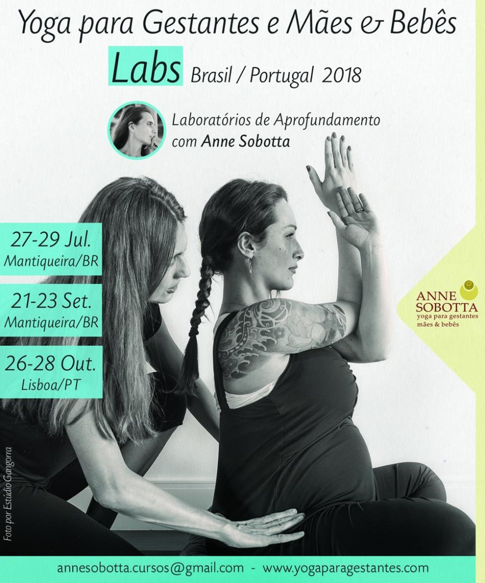 Lab - laboratório de aprofundamento em yoga para gestantes com Anne Sobotta